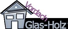 Vordach-Glas-Holz
